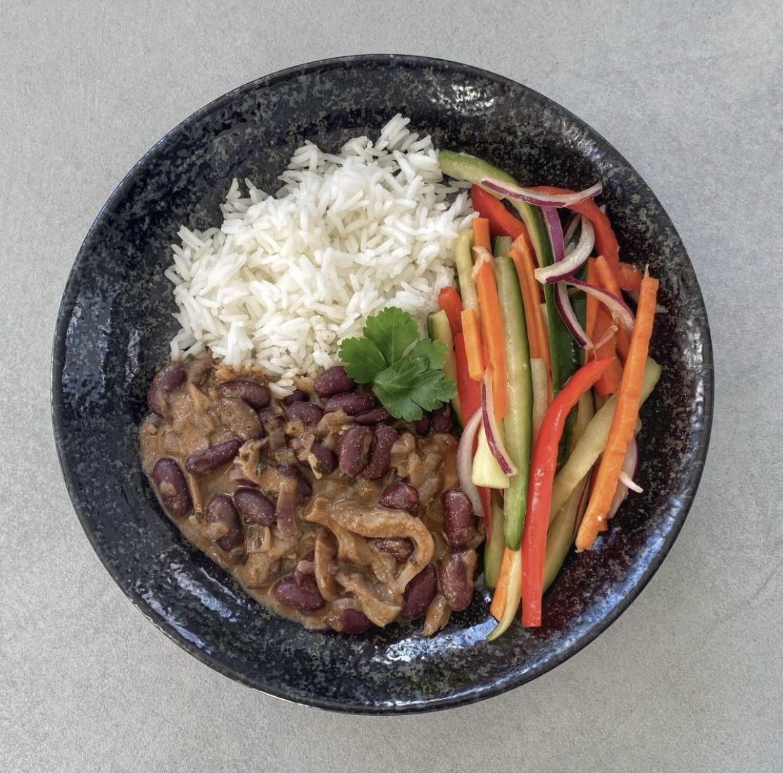Bab, gomba, rizs